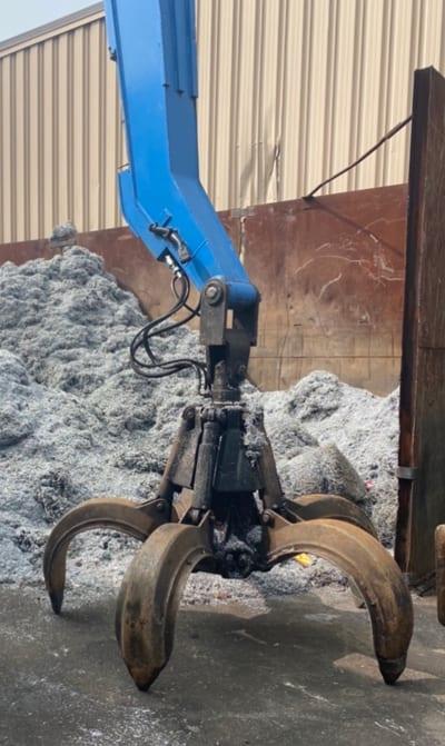 Scrap yard equipment at Greenway Metal Recycling
